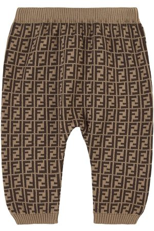 Fendi Kids - FF Knit Pants - Unisex - 18 months - - Leggings