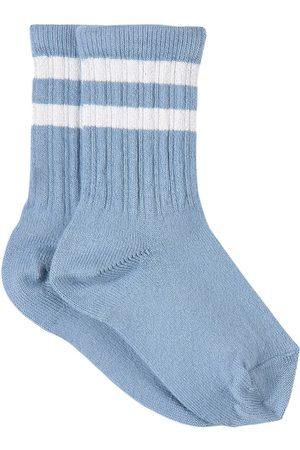 Collegien Kids - Bleu Azur Nico Varsity Crew Socks - Unisex - 21-23 (1-2 Years) - - Socks