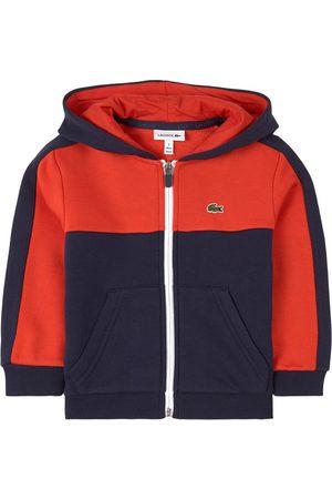 Lacoste Boys Hoodies - Kids - Navy Colour Block Logo Hoodie - Boy - 3 years - Navy - Windbreakers