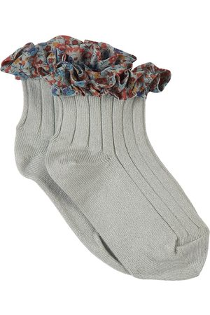 Collegien Kids - Aigue Marine Charlotte Liberty Socks - Girl - 24-27 (3-4 Years) - - Socks
