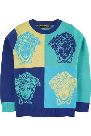 VERSACE Boys Sweaters - Kids Sale - Medusa Knitted Sweater - Boy - 4 years - - Jumpers