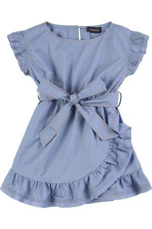 MONNALISA ABITO PORTAFOGLIO Popelin - Girl - 4 years - Navy - Casual dresses
