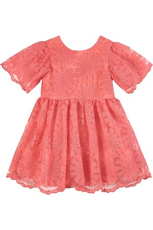Tartine Et Chocolat Girls Casual Dresses - Floral Dress Coral - Unisex - 3 Years - - Casual dresses