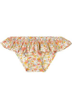 BONPOINT Yellow Floral Print Bikini Panties - Girl - 2 years - - Swimwear briefs