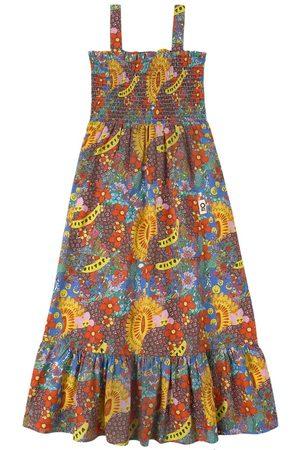 Oii Tank Dress Muslin Smock Flower AOP - Girl - 86/92 cm - - Casual dresses