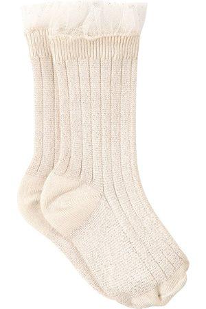 Collegien Kids - Doux Agneaux Alizée Tulle Crew Socks - Girl - 28-31 (5-6 Years) - - Socks