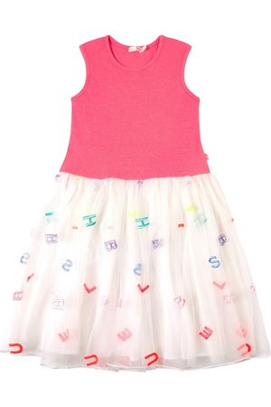 Billieblush Girls Casual Dresses - Sale - Neon Letter Embroidered Tulle Dress - Girl - 2 years - - Casual dresses