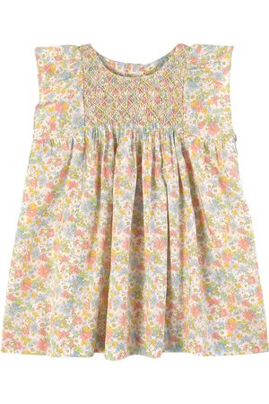 BONPOINT Girls Casual Dresses - Floral Print Smock Dress - Girl - 12 months - - Casual dresses