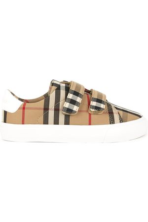 Burberry Kids - Check print velcro sneakers - Unisex - 29 (UK 11) - - Casual trainers