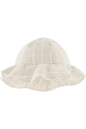 Il gufo Striped Sun Hat Beige - Unisex - 9-12 months - - Backpacks