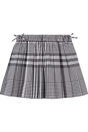 Burberry Girls Skirts - Kids - Check Pearly Pleated Skirt - Girl - 3 years - - Pleated skirts