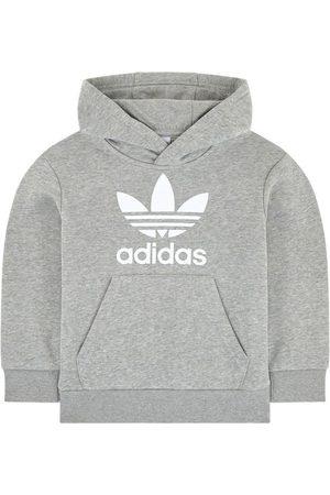 adidas Kids Sale - Trefoil Logo Hoodie - Unisex - 7-8 years (128 cm) - Grey - Hoodies