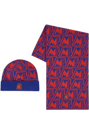 Moncler Gloves - Kids - Red Logo Hat Set - Unisex - 8/10 years - - Hat, scarf and gloves set