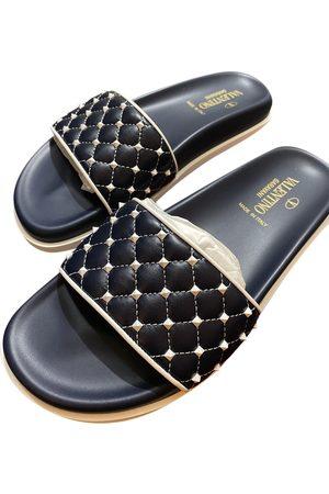 VALENTINO GARAVANI Rockstud Spike Leather Sandals for Women