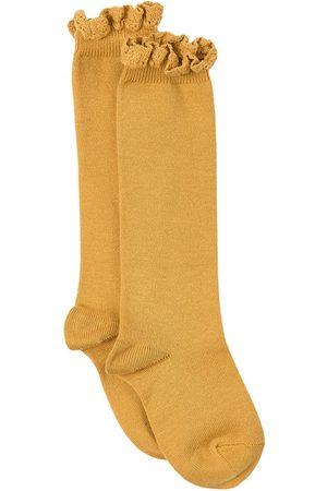 CONDOR Lace Edging Knee Socks Mustard - Girl - 6-12 Months - - Socks