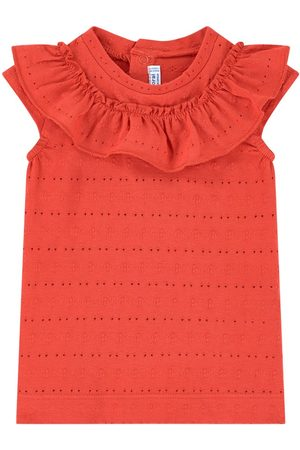Mayoral Frill Collar Top - Girl - 9 months - - Tanks and vests