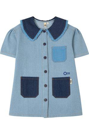 Oii Mini S/S Dress Denim w Collar - Girl - 86/92 cm - - Casual dresses