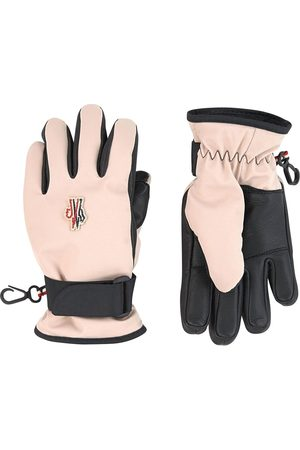 Moncler Kids - Pink Leather Gloves - Unisex - 11/12 years - - Ski gloves and mittens