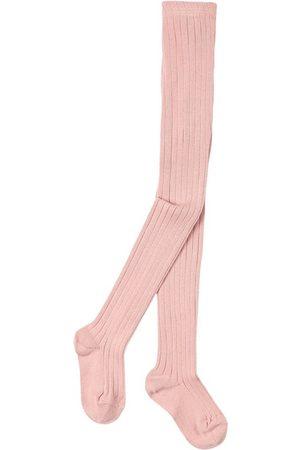 CONDOR Girls Stockings - Basic Rib Tights Pale - Girl - 0-3 Months - - Tights