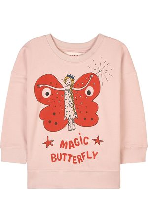 nadadelazos Girls Sweatshirts - Light Rose Magic Butterfly Sweatshirt - Girl - 2 Years - - Sweatshirts