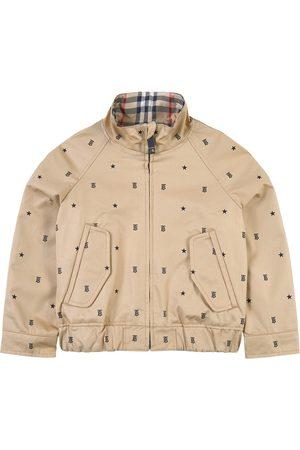 Burberry Bomber Jackets - Kids - Star and Monogram Motif Reversible Jacket Beige - Unisex - 6 Years - - Bomber jackets