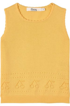 BONPOINT Girls Tank Tops - Knitted Tank Top Pink - Girl - 4 years - - Tanks and vests