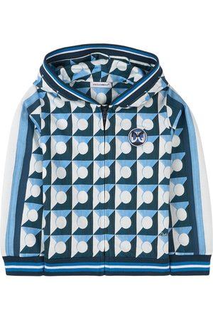 Dolce & Gabbana Kids - Abstract Print Full Zip Hoodie - Boy - 18-24 months - - Hoodies