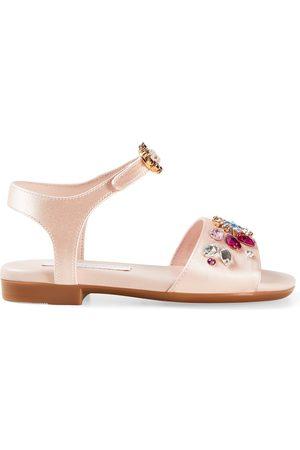 Dolce & Gabbana Girls Sandals - Kids - Diamante Sandals - Girl - 27 (UK 9) - - Strappy sandals