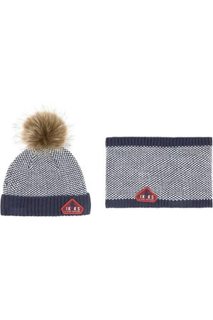 IKKS Boys Beanies - Kids Sale - Navy Beanie Set - Boy - 3 months - Navy - Hat, scarf and gloves set