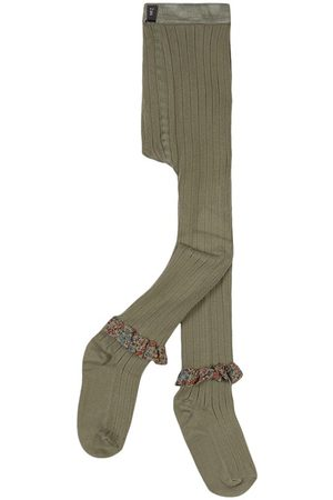 Collegien Kids - Sauge Clémence Liberty Tights - Girl - 2 Years - - Tights
