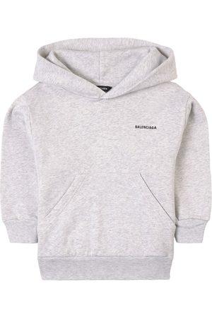 Balenciaga Kids Sale - Melange Logo Hoodie - Unisex - 2 Years - Grey - Hoodies
