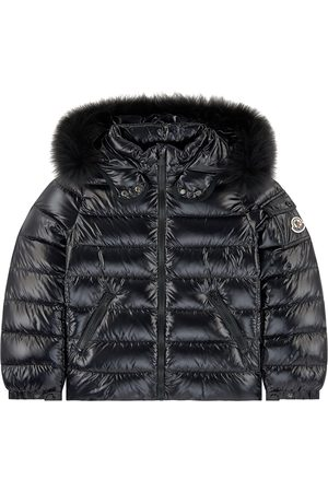 Moncler Kids - Black Bady Fur Down Jacket - Girl - 4 Years - - Padded and puffer jackets