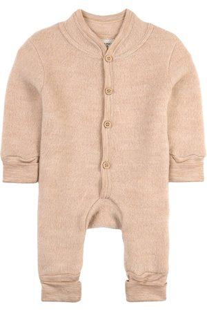 Kuling Sale - Sand Melange Wool Fleece Onesie - Unisex - 50/56 cm - - Fleece coveralls