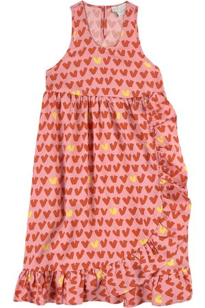 Stella McCartney Kids Sale - Twill Hearts Print Dress - Girl - 2 years - - Casual dresses