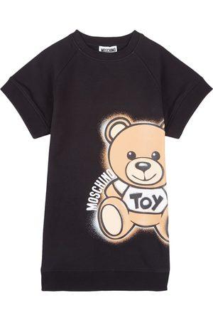 Moschino Kids - Bear Print Sweat Dress - Girl - 5 years - - Casual dresses
