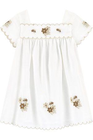 Tartine Et Chocolat White Floral Dress - Girl - 6 Months - - Casual dresses