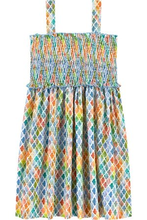 Mayoral Printed Smocked Dress Multicolor - Girl - 8 years - - Casual dresses