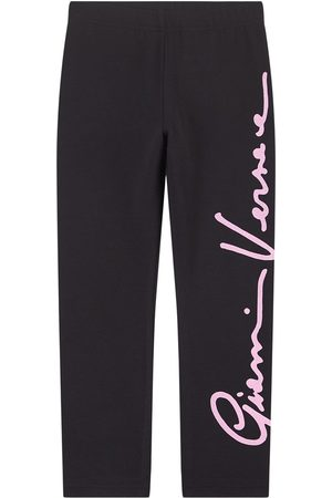VERSACE Girls Sweatpants - Kids Sale - Signature Print Sweatpants - Girl - 4 years - - Sweatpants