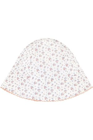 Tartine Et Chocolat Beanies - White Floral Sun Hat - Girl - 1/3 months - - Baby beanies