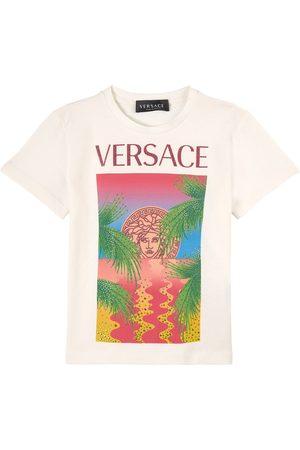 VERSACE Girls T-shirts - Kids Sale - Medusa Rhinestone T-Shirt - Girl - 4 years - - T-shirts