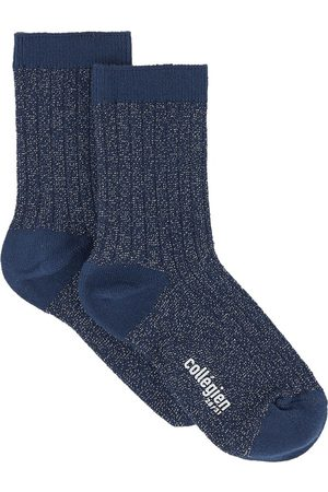 Collegien Socks - Kids - Pair of cotton socks with lurex - Unisex - 21/23 (UK 4.5/6 - US 5.5/7) - - Socks