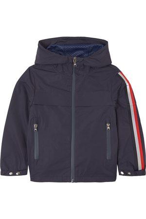 Moncler Sports Jackets - Kids - Navy Vaug Hooded Windbreaker - Unisex - 4 years - Navy - Windbreakers