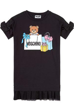 Moschino Girls Casual Dresses - Kids - Bear Logo Print Dress - Girl - 4 years - - Casual dresses