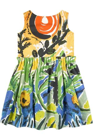 Marni Girls Casual Dresses - Kids - Multicolor Pleated Dress - Girl - 4 years - - Casual dresses