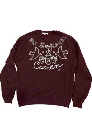 Carven Burgundy Cotton Knitwear & Sweatshirts