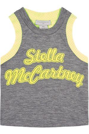 Stella McCartney Girls Tank Tops - Kids Sale - Space Dye Jersey Sport Tank Top - Girl - 3 years - Grey - Tanks and vests