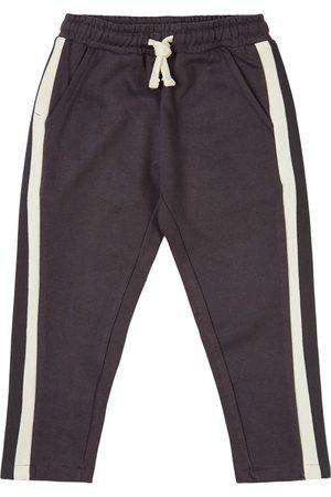 Oii Sports Pants - Sweatpant Old School Sports Pinstripe - Unisex - 86/92 cm - Grey - Sweatpants