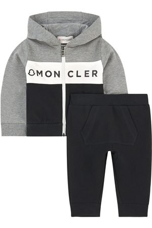 Moncler Kids - Hoodie and tracksuit pants - Boy - 6-9 months - Grey - Tracksuits