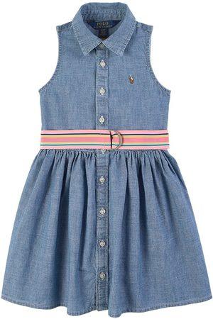 Ralph Lauren Girls Casual Dresses - Kids Sale - Logo Chambray Dress - Girl - 2 years - - Casual dresses