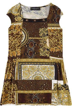 VERSACE Girls Printed Dresses - Kids Sale - Brown Heritage Print Dress - Girl - 6 years - - Party dresses